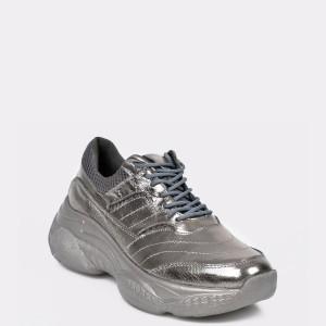 Pantofi sport FLAVIA PASSINI argintii, M1081, din piele naturala