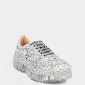 Pantofi sport FLAVIA PASSINI argintii, 38073, din material textil