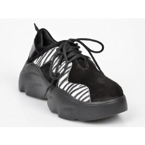 Pantofi sport FLAVIA PASSINI negri, M1040, din piele intoarsa