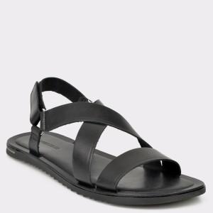 Sandale barbati SALAMANDER negre 75105 din piele naturala