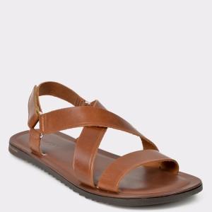 Sandale barbati SALAMANDER maro 75105 din piele naturala