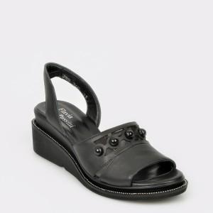 Sandale FLAVIA PASSINI negre, 285340, din piele naturala