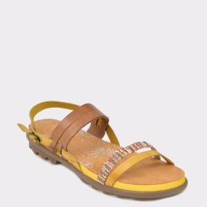 Sandale FLAVIA PASSINI galbene, 36504, din piele naturala