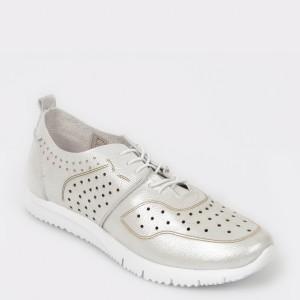 Pantofi FLAVIA PASSINI argintii, 15752, din piele naturala