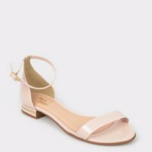 Sandale FLAVIA PASSINI nude, 11471, din piele ecologica lacuita