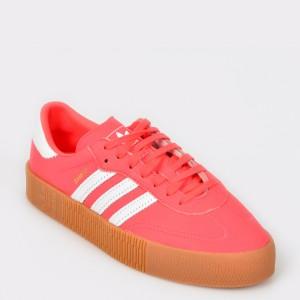 Pantofi sport ADIDAS rosii, Db2696, din piele naturala