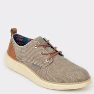 Pantofi SKECHERS bej, 65910, din material textil