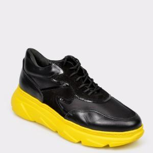 Pantofi sport FLAVIA PASSINI negri, M10301, din piele naturala