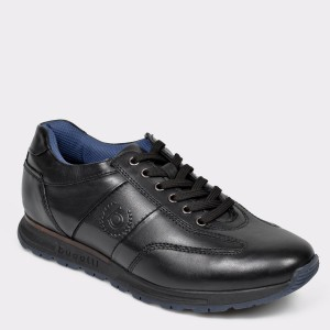 Pantofi BUGATTI negri, 81902, din piele naturala