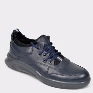 Pantofi Otter Bleumarin, 2801, Din Piele Naturala