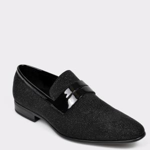 Pantofi ALDO negri, Jerani001, din piele naturala