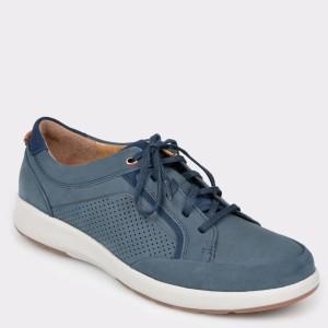 Pantofi CLARKS albastri, Untrafo, din nabuc