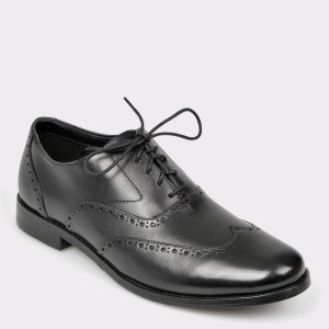 Pantofi CLARKS negri, Edwawal, din piele naturala