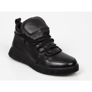 Pantofi Otter Negri, 3014, Din Piele Naturala