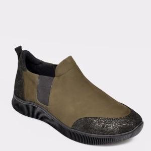 Pantofi Flavia Passini Kaki, 3203, Din Nabuc