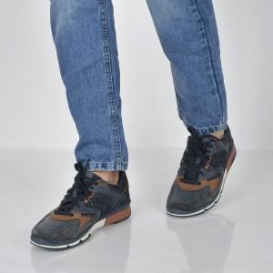 Pantofi sport GEOX bleumarin, U84A6A, din piele intoarsa