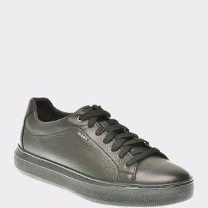 Pantofi GEOX negri, U845Wb, din piele naturala