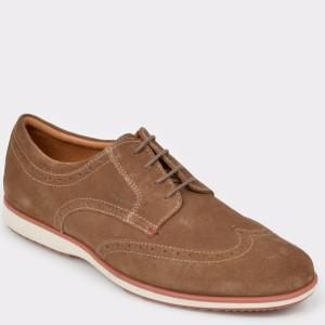 Pantofi GEOX maro, U926Qa, din piele intoarsa