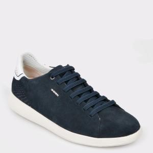 Pantofi GEOX bleumarin, U926Fb, din piele intoarsa