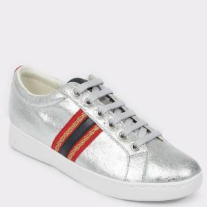 Pantofi sport GEOX argintii, D921Ba, din piele naturala