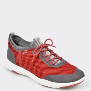 Pantofi sport GEOX rosii, U826Ba, din material textil