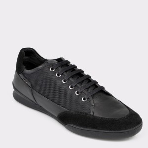 Pantofi GEOX negri, U920Ea, din material textil