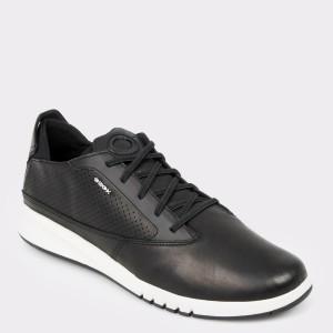 Pantofi GEOX negri, U927Fa, din piele naturala