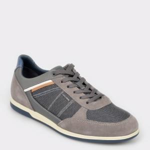 Pantofi sport GEOX gri, U824Gb, din piele intoarsa