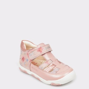 Pantofi pentru copii GEOX roz, B820Qa, din piele naturala