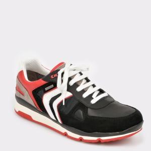 Pantofi Sport Geox Negri, U92s7a, Din Piele Ecologica