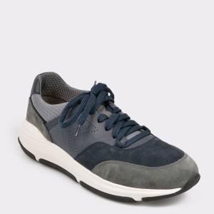 Pantofi Sport Geox Bleumarin, U926la, Din Piele Ecologica