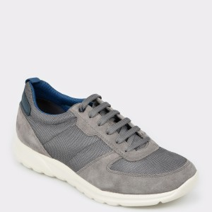 Pantofi sport GEOX gri, U920Ha, din material textil