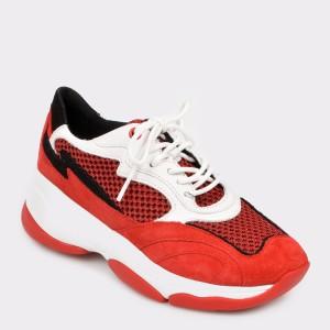 Pantofi sport GEOX rosii D92Bpb din piele ecologica