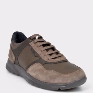 Pantofi sport GEOX maro, B75807, din material textil si piele naturala