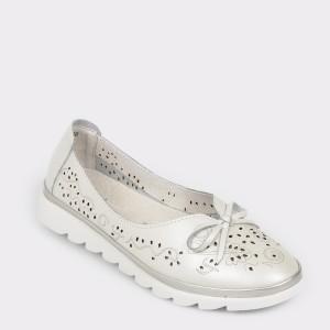 Pantofi FLAVIA PASSINI albi, 1806, din piele naturala