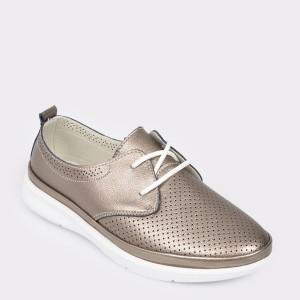 Pantofi Rio Fiore Aurii, 33, Din Piele Naturala