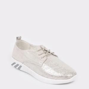 Pantofi Sport Rio Fiore Argintii, 123h10, Din Piele Naturala