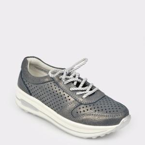 Pantofi sport FLAVIA PASSINI argintii, 170717, din piele naturala