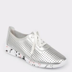 Pantofi sport FLAVIA PASSINI argintii, Cl18002, din piele naturala