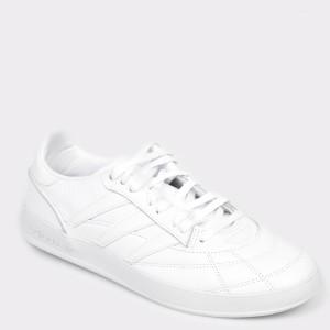 Pantofi sport ADIDAS albi, Ee6318, din piele naturala