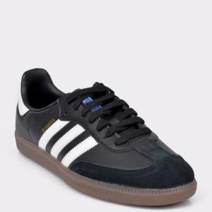 Pantofi sport ADIDAS negri, B75807, din piele naturala