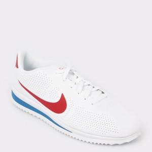 Pantofi sport NIKE albi, 845013, din piele ecologica