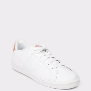 Pantofi sport NIKE albi, 749867, din piele ecologica