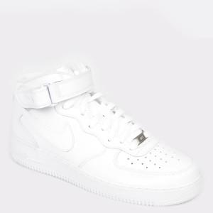 Pantofi sport NIKE albi 315123 din piele ecologica