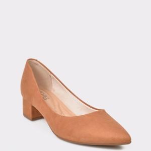 Pantofi maro, 4182100, din piele ecologica