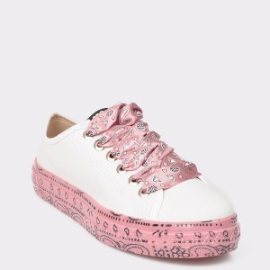 Pantofi albi, 5644309, din piele ecologica