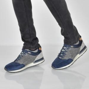 Pantofi Sport Pepe Jeans Bleumarin, Ms30474, Din Piele Intoarsa