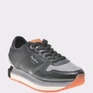 Pantofi sport PEPE JEANS negri, Ls30787, din piele ecologica
