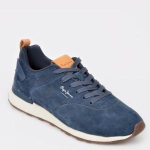Pantofi sport PEPE JEANS bleumarin, Ms30520, din piele intoarsa