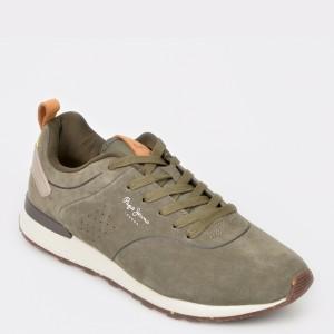 Pantofi sport PEPE JEANS gri, Ms30520, din piele intoarsa